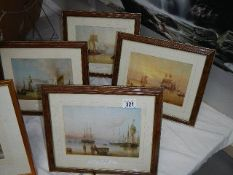 A set of 4 framed and glazed nautical prints.