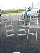 Three step ladders.