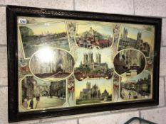 A Victorian collage of Lincoln Cathedral