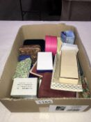 A mixed lot of empty jewellery boxes