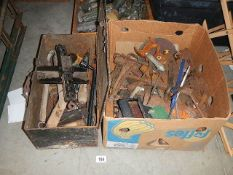 Two boxes of old tools.