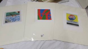 Collection of 3 pop art prints circa 1990s artist's include Andy Warhol (Close cover before