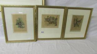 Three framed and glazed Marjorie C Bates prints entitled 'Peter Pan Kensington Gardens',