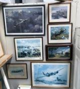 2 framed & glazed signed RAF prints, 'A Blenheim will fly again',