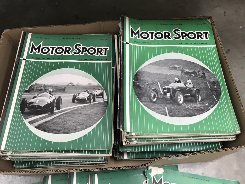 A box of 1950's motor sport car magazines - Image 3 of 3