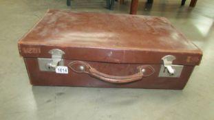 A vintage suitcase.
