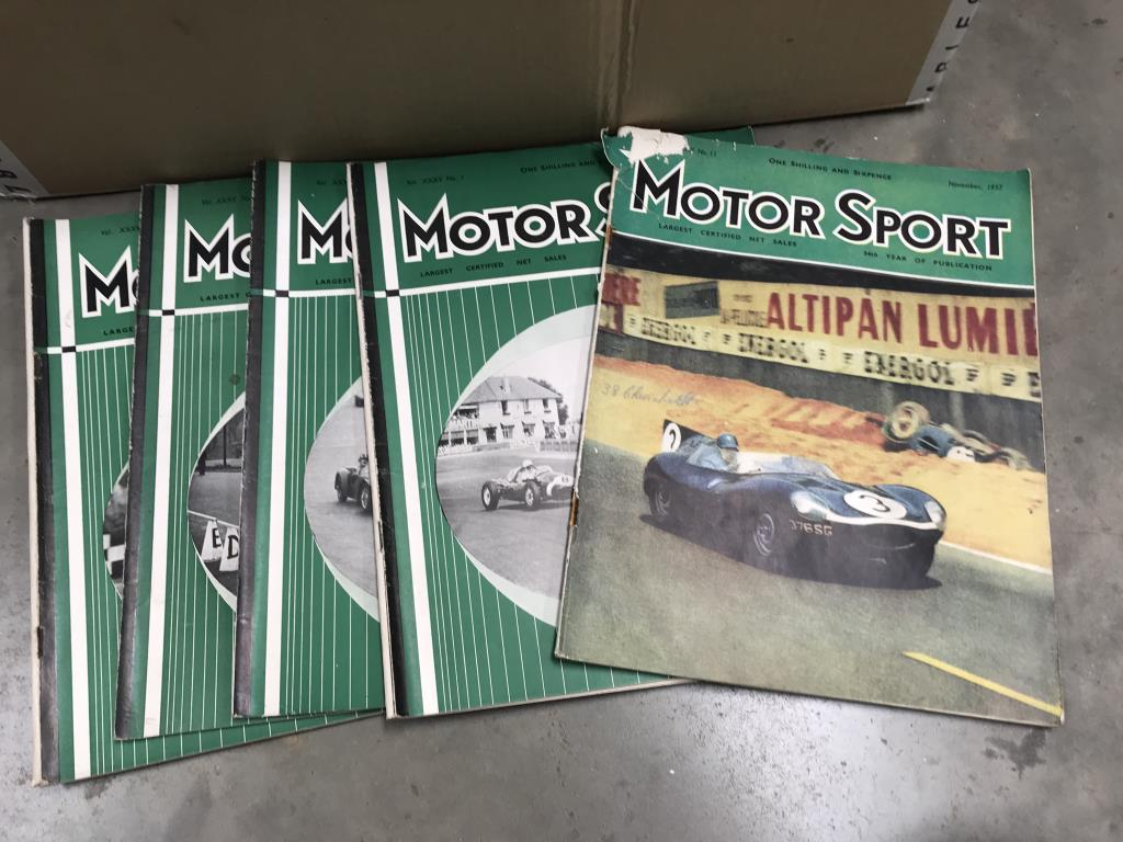A box of 1950's motor sport car magazines - Image 2 of 3