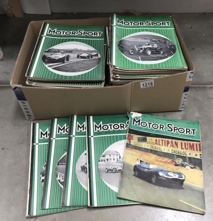 A box of 1950's motor sport car magazines