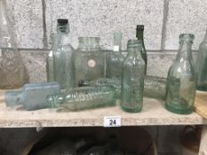 A collection of mainly Lincoln bottles/jars