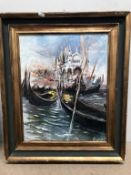An oil on canvas continental scene,