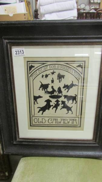 Early 20th century 1920's/30's pen and ink silhouette advertising artwork for 'The best dog &