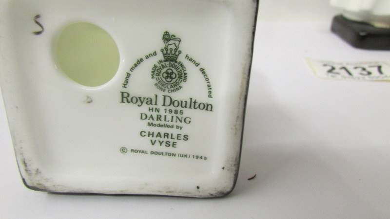 Two Royal Doulton figurines - Darling HN1985 and Bedtime HN1978. - Image 3 of 5