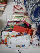 A quantity of vintage handkerchiefs.