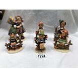 6 vintage Hummel & Goebel figurines