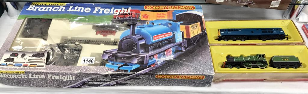 A Hornby Branch line Freight (some parts missing) & 2 locomotives