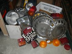 A large lot of old car parts etc.