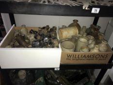 2 boxes of stoneware jugs,