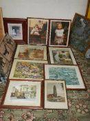 12 good framed prints.