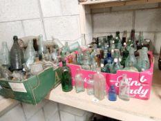 3 big boxes of some washed &some not vintage decorative bottles