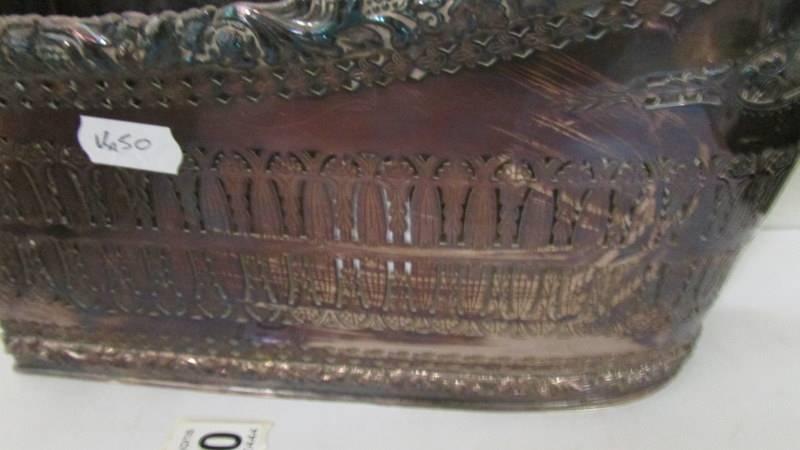 A heavy silver plate wine bottle holder by Barker Ellis. - Image 2 of 3