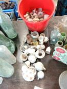 A large lot of miniature cups & saucers etc.