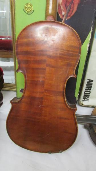 Two old violins, a/f. - Image 3 of 5