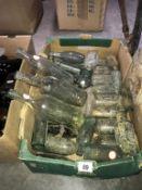 A good lot of clear vintage bottles