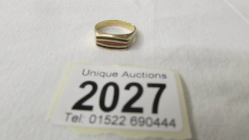 A 14k gold ring, size P. 4.4 grams. - Image 2 of 2