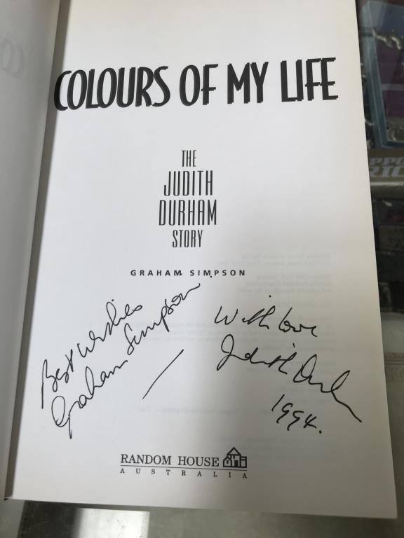 A good lot of hardback books including signed copies by Ian Rankin, Judith Durham, - Image 9 of 11