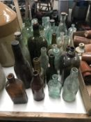 A good collection of various glass