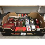 A quantity of assorted collectables special additions including dinky sports car on plinth (3 cars)