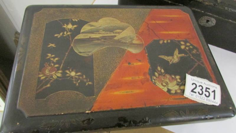 Two Japanese lacquered boxes. - Image 3 of 3