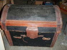 An old domed top box, a/f.