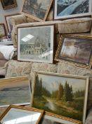 Nine framed and glazed pictures.
