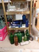 3 shelves of blue,