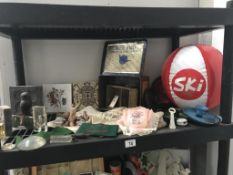 An unusual selection of vintage curio's including a 1925 British Empire exhibition lace edge