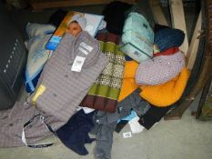 A mixed lot of clothing including jumpers.