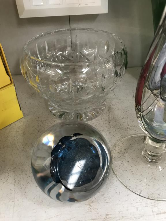 A selection of art glass including vases & paperweights etc. - Image 2 of 6