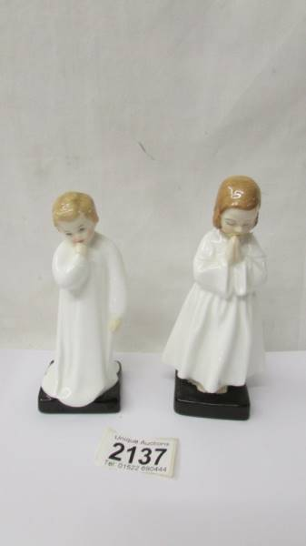 Two Royal Doulton figurines - Darling HN1985 and Bedtime HN1978.