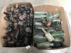 A quantity of bottles & Bovril jars