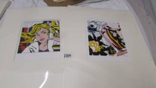 Roy Lichtenstein (1923-1997) Pair of prints one entitled 'M-Maybe (A girl's picture)' the other