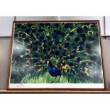 A large framed print 'Le Paan - the peacock by walasse Ting (153cm x 120cm)