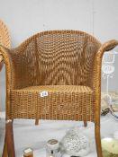 A good Lloyd Loom bedroom chair in good condition.