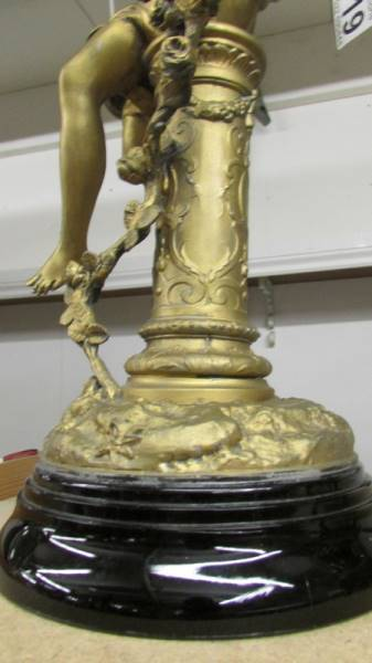 A gilded 19th century figure signed Chievy. - Image 3 of 3