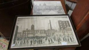 A framed and glazed L S Lowry print,