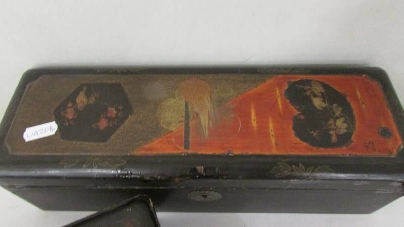 Two Japanese lacquered boxes. - Image 2 of 3