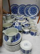 A mixed lot of blue and white dinner ware including Blue Dahlia Midwinter.