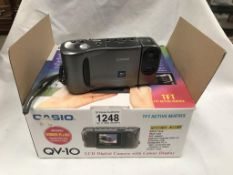 A Casio QV10 digital camera with LCD viewing screen (early version)
