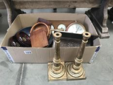 A quantity of wooden items including bottle coasters, gingerbread figure moulds,
