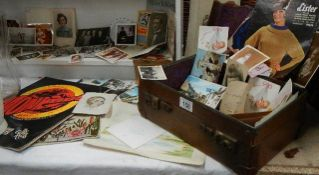 A mixed lot of ephemera including post cards.